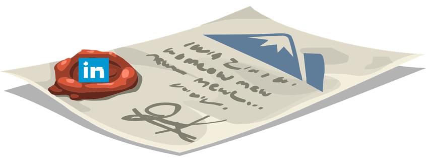 icon Linkedin toevoegen handtekening email Outlookn