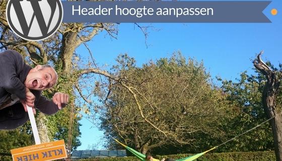 Header hoogte aanpassen wordpress cms