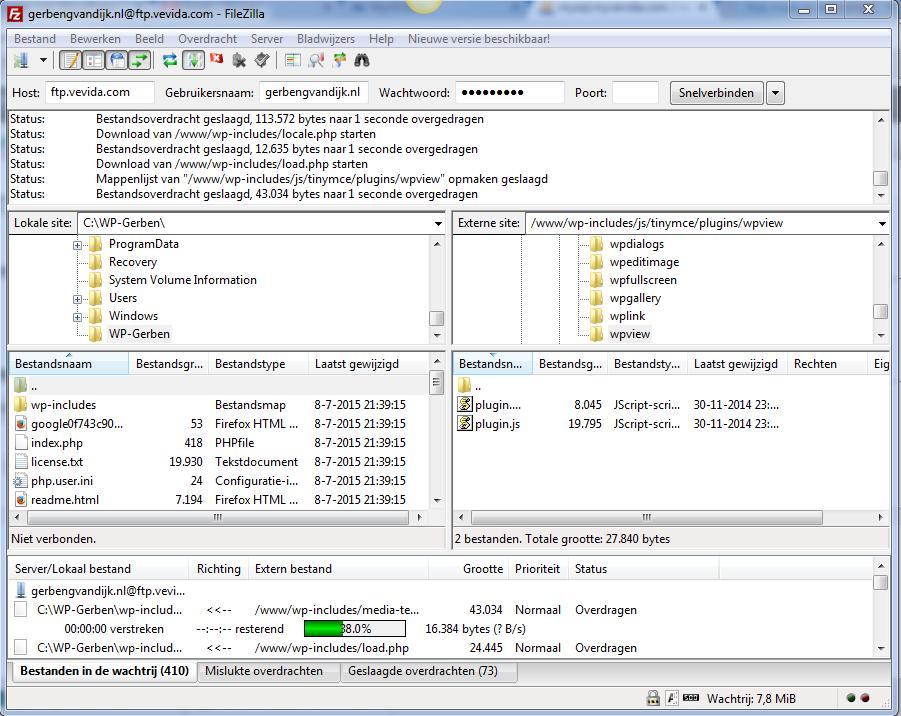 Backup WordPress FileZilla FTP