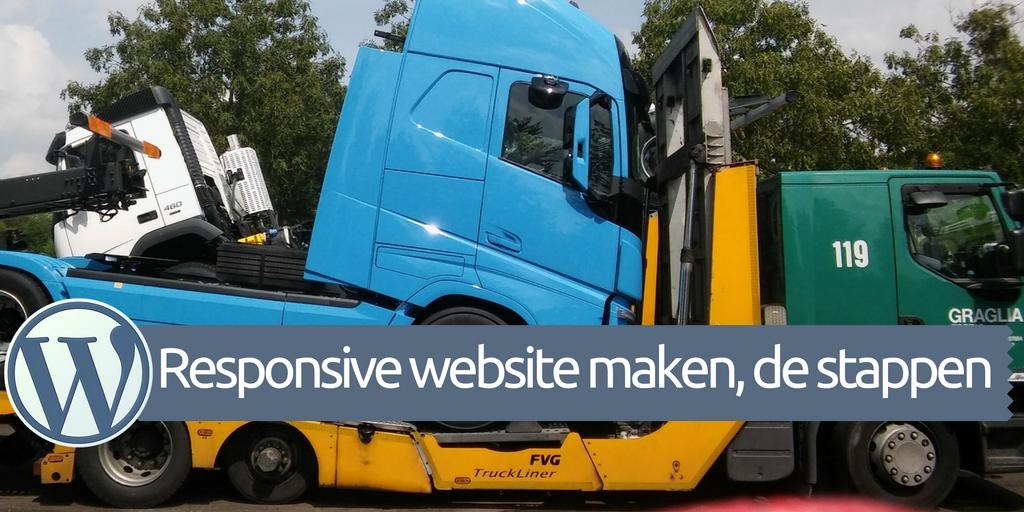 WordPress responsive website laten maken - nieuwe vrachtwagen op auto