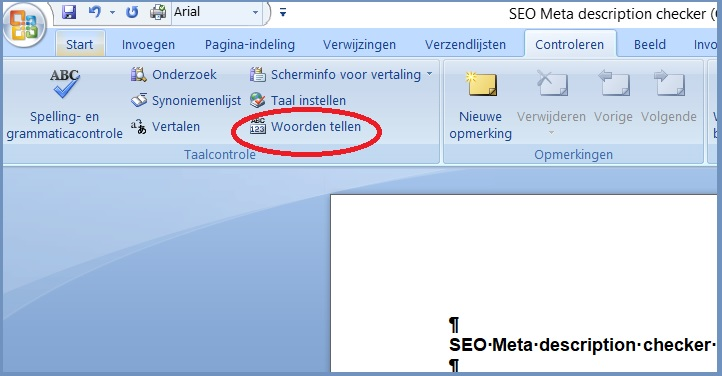 SEO-meta-description-checker-via-Word-Woorden-tellen