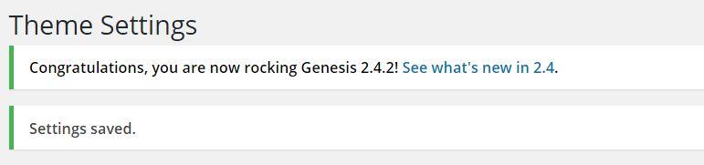 Upgrade genesis framework voor PHP 7