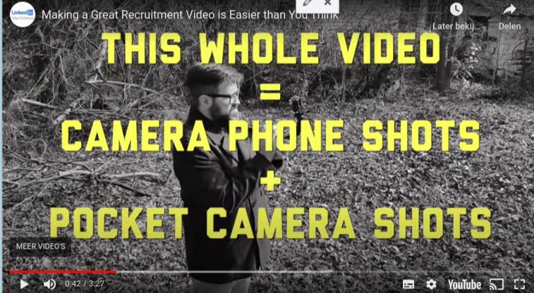 Bedrijfsvideo maken linkedin over ons video of vlog maken app mobiel Android Ios