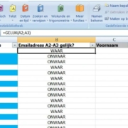 adressen filteren Excel