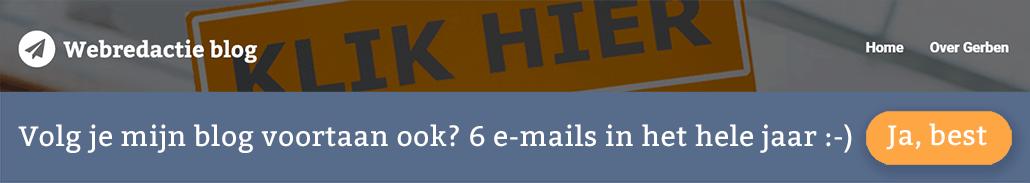 Nieuwsbrief gerbengvandijk inschrijven blog over WordPress en webredactie