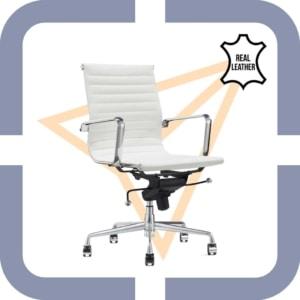 moderne kantoorstoel wit leer bol kopen