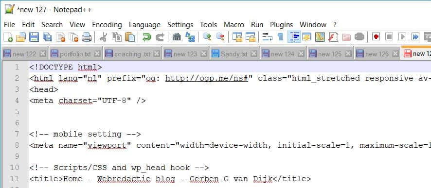 Notepad++ plak tekst in Notepad