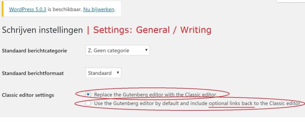WordPress pagebuilder combineren met Gutenberg en klassieke editor - how combine Gutenberg