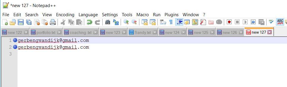 email adres uit excel pdf word html regel geselecteerd via zoek en vervang notepad plus plus