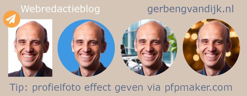Linkedin foto effect gratis profielgenerator gerben g van Dijk tool