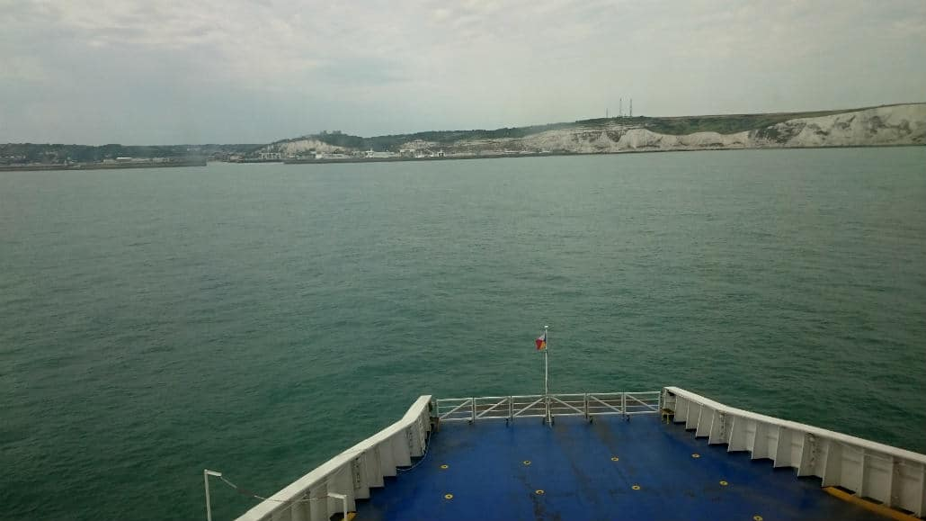 PO Ferry Calais Dover aankomst Engeland