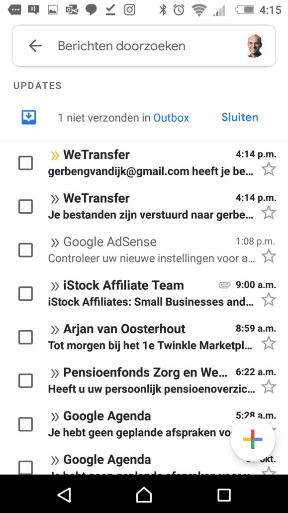 Via Gmail grote bestanden ontvangen