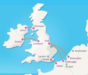 P&O ferries overtochten naar UK Engeland