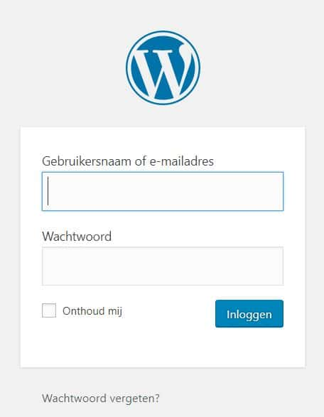 Wat is de WordPress login url