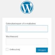 wordpress inlog url