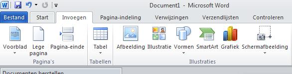 hoe maak ik een screenshot of schermafbeelding met word via invoegen