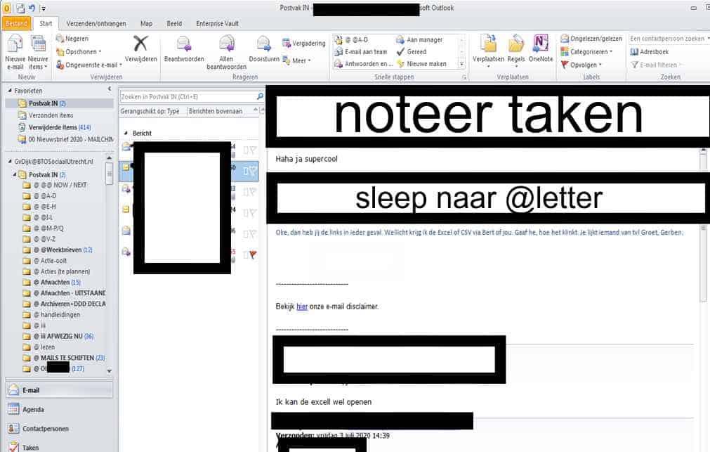 Lege inbox tips voor timemanagement productiviteit outlook