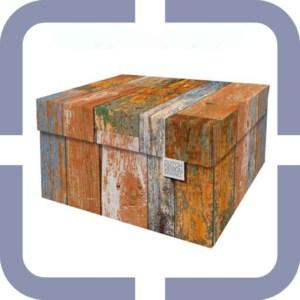 opbergdoos met deksel karton kopen bestellen online steigerhout motief
