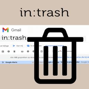 Stap 3 in trash zoekcommando voor Gmail prullenbak leegmaken