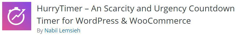 Hurrytimer WordPress plugin
