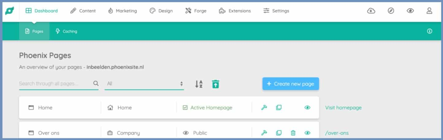 WordPress vs Phoenix site dashboard