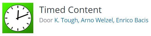 Timed content WordPress plugin