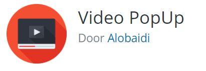 Video pop up plugin