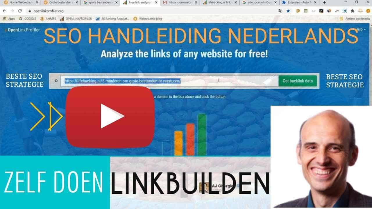 video SEO handleiding voor linkbuilding zelf doen youtube