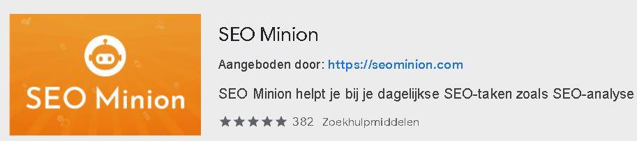 SEO minion extentie 2