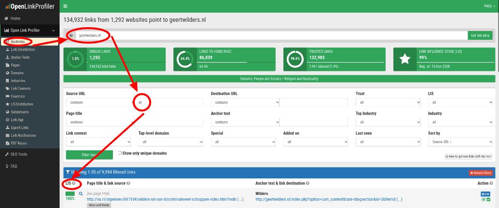 seo frofiler backlink checker free tool google