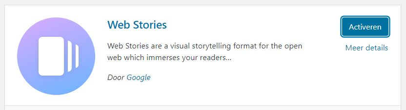welke web stories plugin wordpress installeren wordpress org