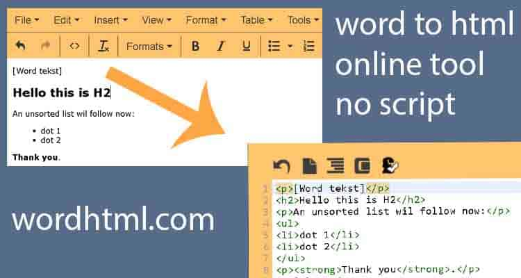 word to html conversion simple wordhtml com