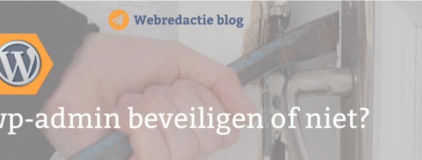 wordpress wp admin beveiligen of niet