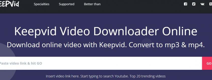 MP3 van online video downloaden gratis Keepvid