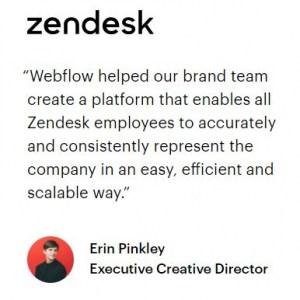 zendesk over Webflow