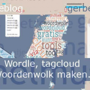 Wordle maken Woordenwolk maken Word cloud maken Wordclouds generator webredactie blog gerbengvandijk nl