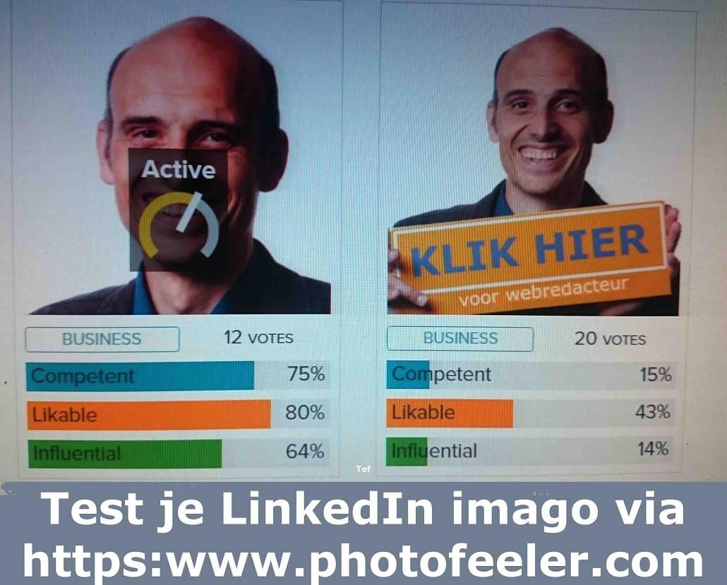 beste Linkedin foto uitkiezen via photofeeler 1030