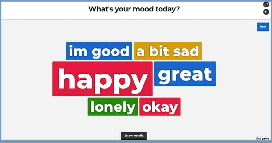 kahoot word cloud generator interactive