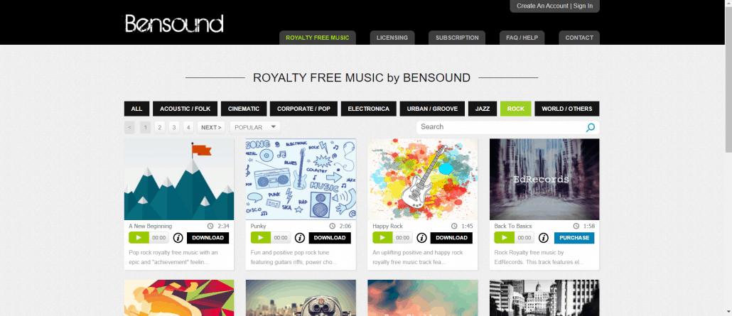 bensound.com download mp3